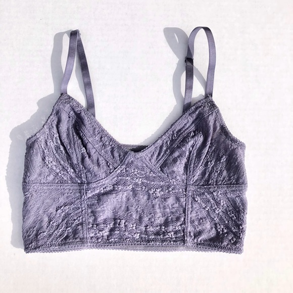 000c21525ab Free People Other - Free People Lavender Lace Bralette Size XS